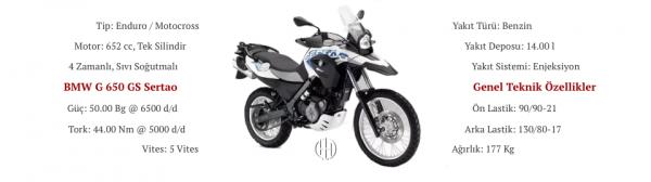 BMW G 650 GS Sertao (2012 - 2015) - Motodeks