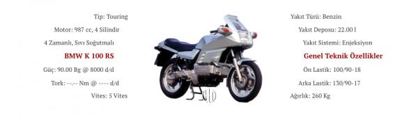 BMW K 100 RS (1983 - 1992) - Motodeks