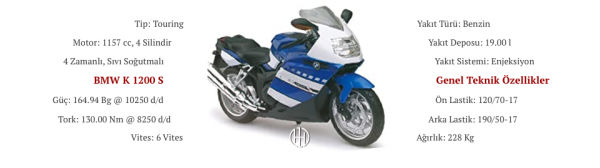 BMW K 1200 S (2005 - 2008) - Motodeks