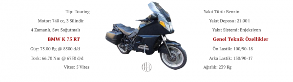 BMW K 75 RT (1991 - 1996) - Motodeks
