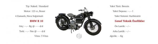 BMW R 10 (1948) (Hiç Üretilmedi - Prototip) - Motodeks