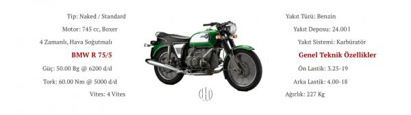 BMW R 75:5 (1969 - 1972) - Motodeks
