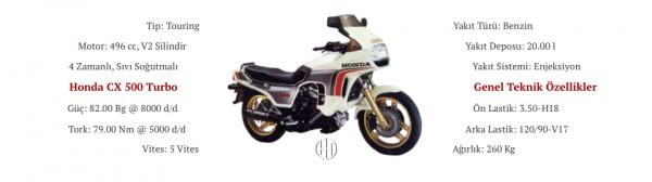 Honda CX 500 Turbo (1981 - 1982) - Motodeks