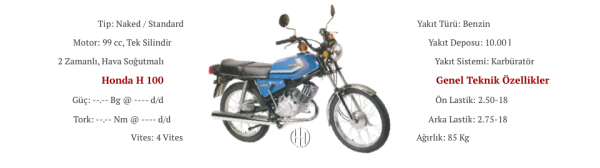 Honda H 100 (1980 - 1992) - Motodeks
