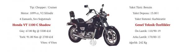 Honda VT 1100 C Shadow (1987 - 1996) - Motodeks