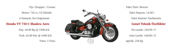 Honda VT 750 C Shadow Aero (2004 - 2006) - Motodeks