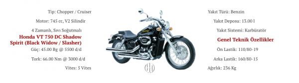 Honda VT 750 DC Shadow Spirit (Black Widow - Slasher) (2000 - 2007) - Motodeks