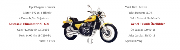Kawasaki Eliminator ZL 600 (1986 - 1994) - Motodeks