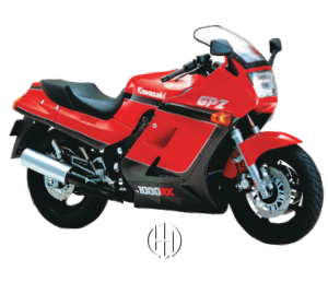 Kawasaki GPZ 1000 RX (Ninja 1000 R) (1986 - 1988) - Motodeks