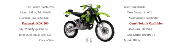 Kawasaki KDX 200 (2003 - 2006) - Motodeks