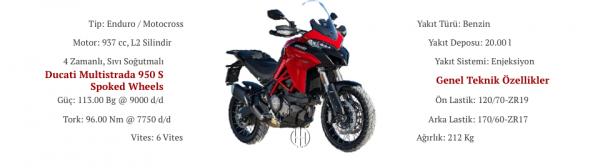 Ducati Multistrada 950 S Spoked Wheels (2019 - XXXX) - Motodeks