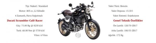Ducati Scrambler Cafe Racer (2017 - 2018) - Motodeks