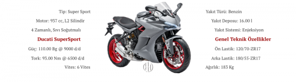 Ducati SuperSport (2017 - XXXX) - Motodeks
