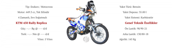 KTM 450 Rally Replica (2011 - 2013) - Motodeks
