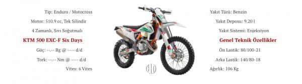 KTM 500 EXC-F Six Days (2018 - XXXX) - Motodeks