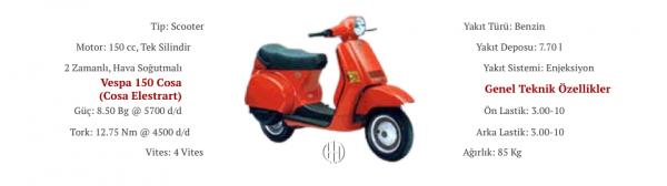 Vespa 150 Cosa (Cosa Elestart) (1988 - 1998) - Motodeks