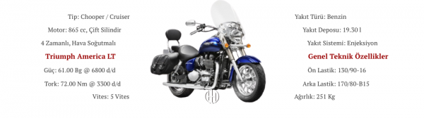 Triumph America LT (2015 - 2018) - Motodeks