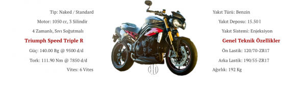 Triumph Speed Triple R (2016 - 2017) - Motodeks