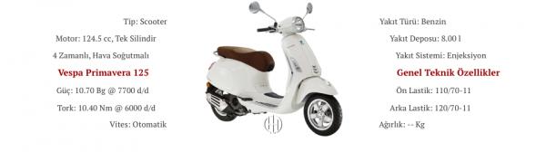Vespa Primavera 125 (2014 - 2017) - Motodeks