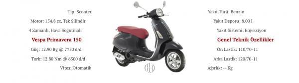 Vespa Primavera 150 (2014 - 2017) - Motodeks
