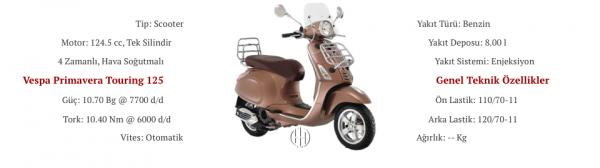 Vespa Primavera Touring 125 (2015 - 2017) - Motodeks