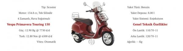Vespa Primavera Touring 150 (2015 - 2017) - Motodeks