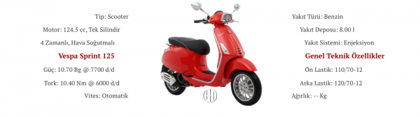 Vespa Sprint 125 (2014 - XXXX) - Motodeks