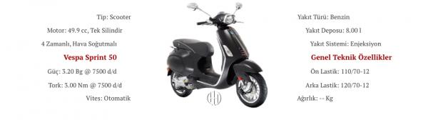 Vespa Sprint 50 (2018 - XXXX) - Motodeks
