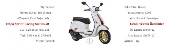Vespa Sprint Racing Sixties 50 (2020 - XXXX) - Motodeks